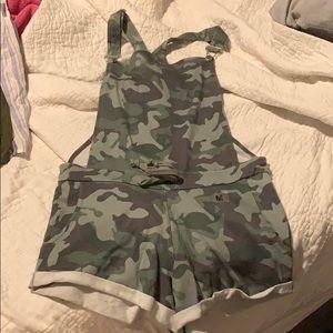 Camo overalls